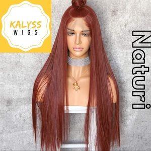 """Naturi"" Auburn Synthetic 13""x6 Lace Front Wig"